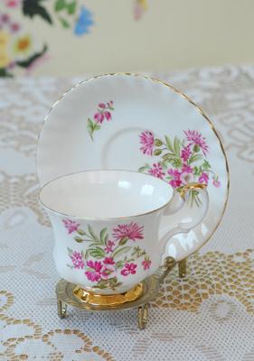 コーヒーカップ&ソーサー・フラワーピンクB