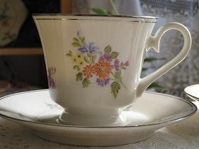コーヒーカップ&ソーサー銀彩